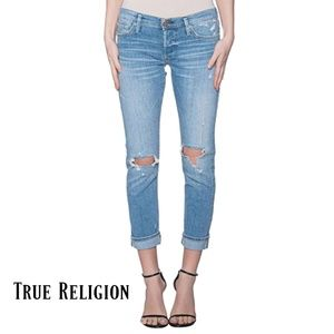 True Religion Liv low rise distressed skinny jeans